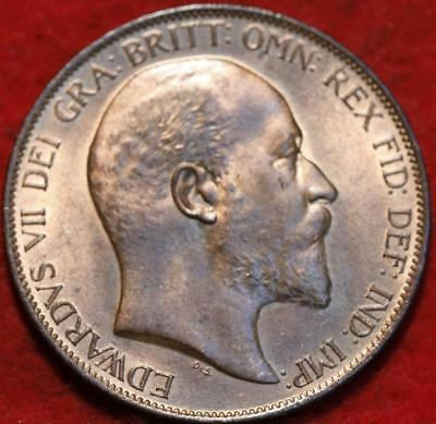 Uncirculated Red 1902 Great Britain Penny Foreign Coin
