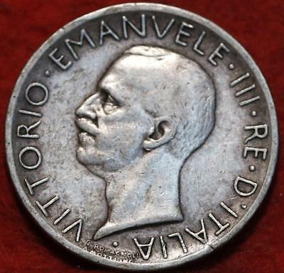 1927 Italy 5 Lire Silver Foreign Coin