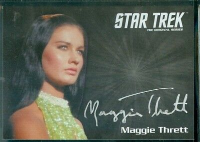 Star Trek Original Series 50th Anniversary Maggie Thrett as Ruth Bonav Auto Card