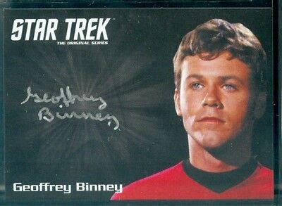 Star Trek Original Series 50th Anniversary Geoffrey Binney as Compton Auto Card