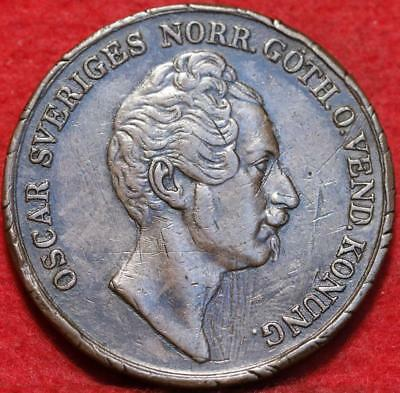 1849 Sweden 4 Skilling Foreign Coin