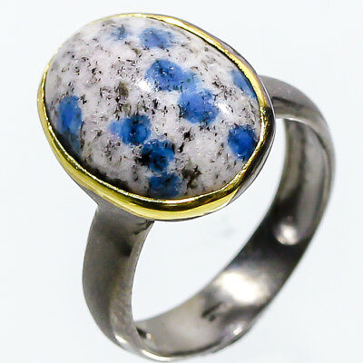 Minimal Art 16ct+ Natural Sodalite 925 Sterling Silver Ring Size 7.25/R01912