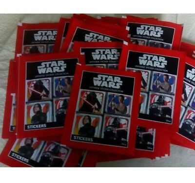 Star Wars Universe Stickers 50 Sealed Packets