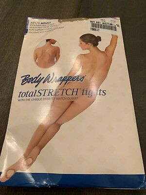 Body Wrappers A91/X Adult  L/XL Total Stretch Tights Jazzy Tan Converible Foot