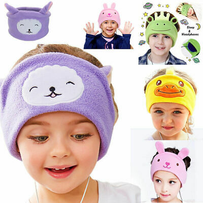 Kids Headphones Soft flexible fleece Headband Children's Earphones School Home