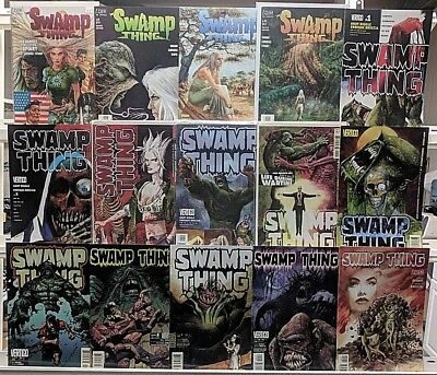Swamp Thing Comics Huge 15 Comic Book Lot Collection Set Run Books Box 1