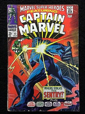MARVEL SUPER-HEROES #13 CAPTAIN MARVEL 1st CAROL DANVERS APPEARANCE!