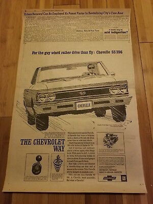 1966 Ss Chevelle/drive Than Fly Newspaper Ad