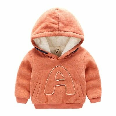 Baby Boy Girl Warm Sweaters 2T Baby Hooded Sweatshirt For Infant Thick Sweaters
