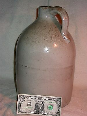 ANTIQUE,Large,Heavy,TALL,White-Grey,Stonewear Jug