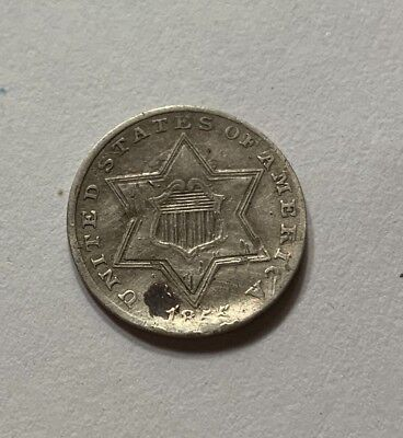 1855 3 Cent Piece Silver - Tough Date!