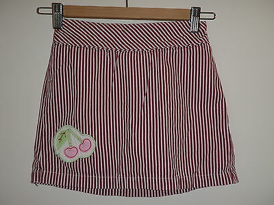 Talbots Kids Red White Striped Skirt with Shorts Cherry Play School Casual sz 7