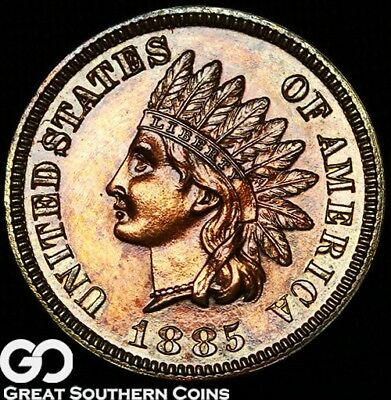 1885 Indian Head Cent Penny PROOF, Very Nice Gem PF++ ** Free Shipping!