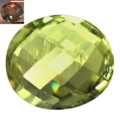 4.82Ct Outstanding Oval Cut 12 x 11 mm AAA Color Change Turkish Diaspore