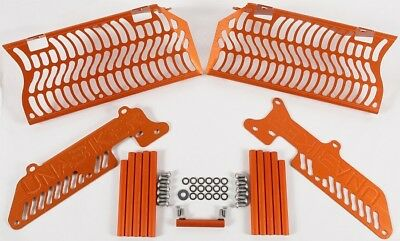 Unabiker Radiator Guards Orange For KTM 250-525 4 Stroke 08-16 14KTM500-O