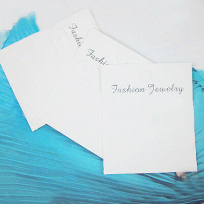 20Pcs Jewelry Display Card Earrings Ear Studs Packing Hang Tag Rectangle Holder