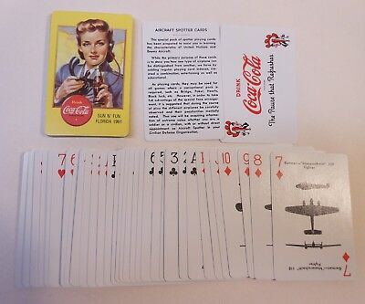 "Vintage Coca Cola 1991 ""Spotter"" Deck of Playing Cards"