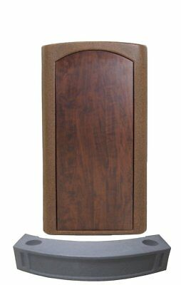 Accent FREE Parking Barrier Podium, Bronze Granite Stand up Lectern, Floor-stand