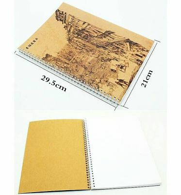 Art Artist Sketchbook Sketch Pad Watercolour Paper Journal For Drawing Craft A4