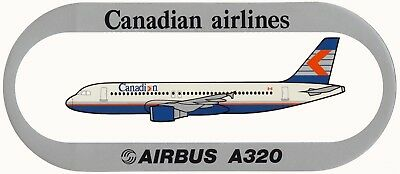 STICKER AUTOCOLLANT AIRBUS A320 CANADIAN AIRLINES v1