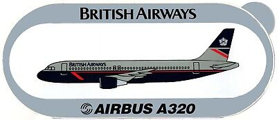 STICKER AUTOCOLLANT AIRBUS A320 BRITISH AIRWAYS v2 without winglets