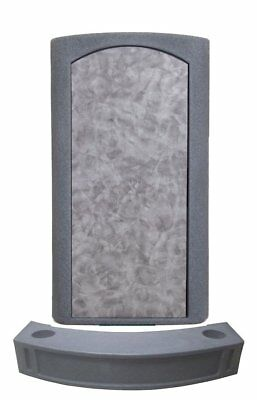FREE Parking Barrier Podium, Gray Stand up Lectern Pulpit, Floor-standing