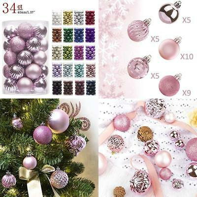 Ki Store 34Ct Christmas Ball Ornaments Shatterproof Christmas Decorations Tree B