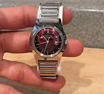 Vintage West End PRIMA Watch New old stock clean very rare 1960s swiss made red