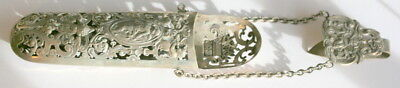 C 1850 , French Hallmarked Silver Spectacles Chatalaine Case Etui, Good Cond.