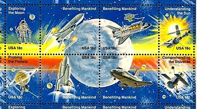 1981 - SPACE ACHIEVEMENT - #1912-19 Mint -MNH- Full Sheet of 48 Postage Stamps