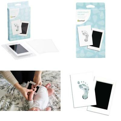 "Pearhead Newborn Baby Handprint Or Footprint ""Clean-Touch"" Ink Pad, 2 Uses,"