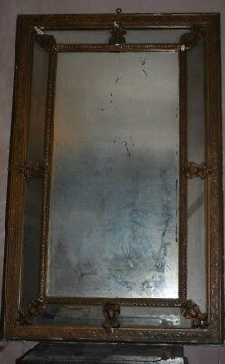 Fantastic large Gilt 19th C French cushion mirror