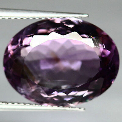 10.62 Ct Aaa! Natural! Purple Clr Change To Pink Brazilian Amethyst Oval