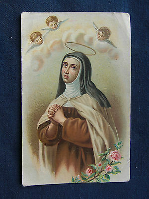 """Andachtsbildchen - Heiligenbild - holy card """"ORAZIONE A S. TERESA -Hl Theresia"""""""