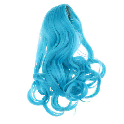 Fantasy Wave Curly Hair for 18inch American Girl Doll Cosplay Wig Blue Color