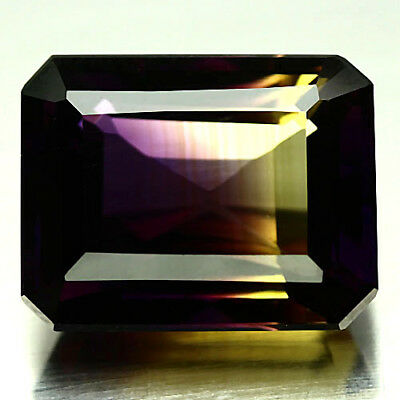 16.65 Ct Vvs! Purple & Golden Bolivia Ametrine Octagon