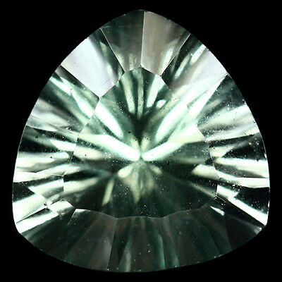 7.74 Ct Aaa Natural! Green China Fluorite Concave Trilliant