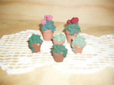 1994 Retired Sarah's Attic Collectible Flower pots Figurine 4354