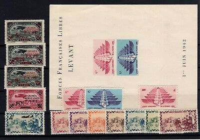 P99946/ Syrria, Ffl Issue / Lot 1942 - 1943 Mint Mnh / Mh / Unused (*) 109 €