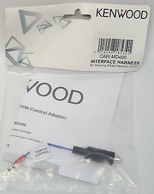 Kenwood CAW-MD400 Car Adapter cable to convert Hossiden connector to single wire