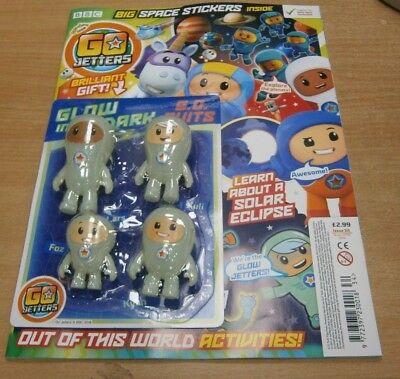 Cbeebies Go Jetters magazine #34 2019 + Glow in the Dark Go.O. Suits & Stickers
