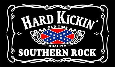 Hard Kickin Southern Rock Flag 5x3 FT - 100% polyester With Eyelets
