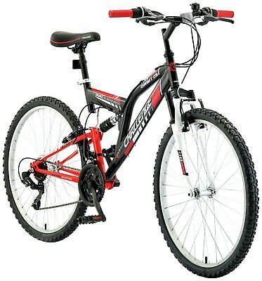 Challenge Orbit  26 Inch Dual Suspension Mountain Bike - Red & Black