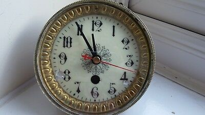 Antique porcelain clock face with quartz movement
