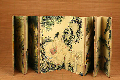 Asian Japanese Chinese printing painting 5 different scene art Scrolls book