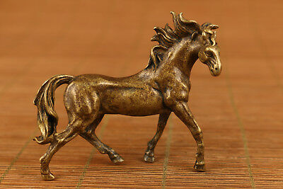 Rare old bronze statue collectable hand carving horse figure home decoration