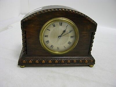 Vintage French Mechanical Mantel Clock (FEB125)