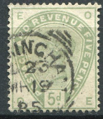 (313) VERY GOOD LIGHTLY USED SG193 QV 5d DULL GREEN