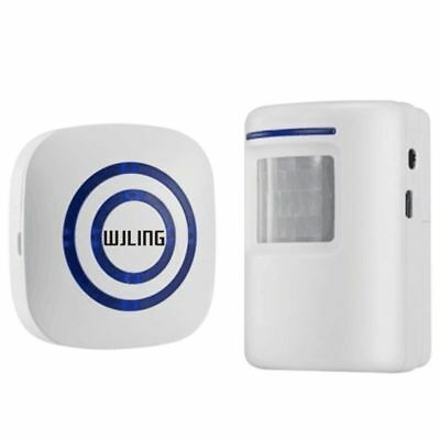 Wjling Home Security Alarm, Wireless Driveway Alert: Infrared Motion Sensor Chim