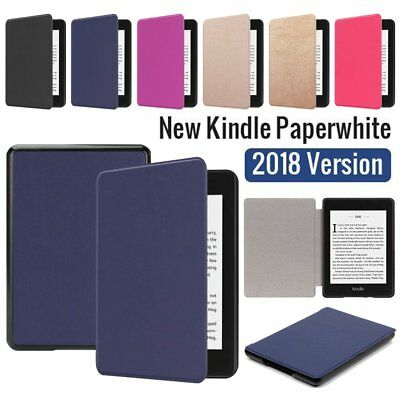 For 2018 Amazon Kindle Paperwhite 10 Slim Magnetic Smart Cover Case Leather Flip